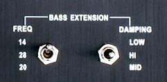 bass extension controls